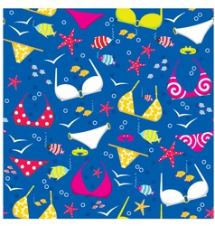 Seamless swimming suits pattern vector image