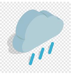 heavy rain isometric icon vector image
