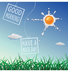 Good morning card vector