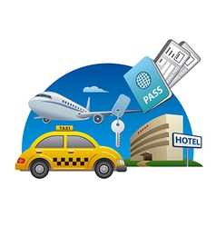 Travel service vector