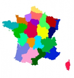 France map with regions vector
