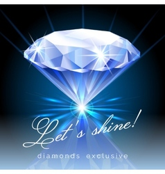 Graphic of shining diamond with text vector