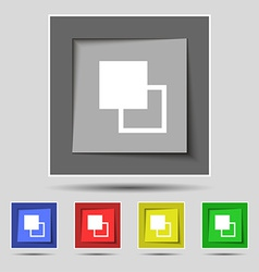 Active color toolbar icon sign on the original vector
