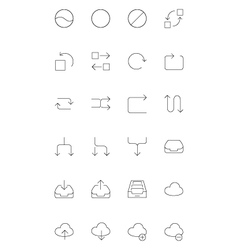 Line icons 5 vector