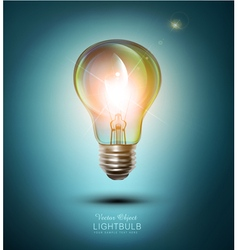 Lightbulb on a blue background vector