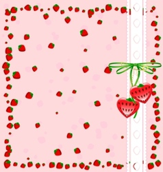 Funny strawberry vector