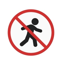 No pedestrian crossing vector