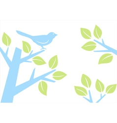 Bird on tree branch vector