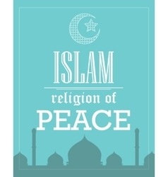 Islam religion of peace poster template flat vector