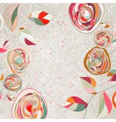 vintage roses background vector image