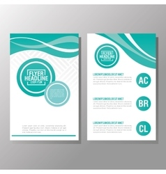 Flyer headline design paper icon colorful design vector
