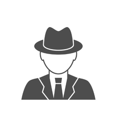 Detective avatar icon vector