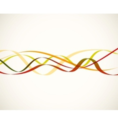 Abstract red lines vector image vector image