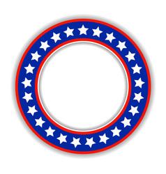 American patriotic round frame icon vector