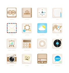 apps icons set retro style vector image vector image