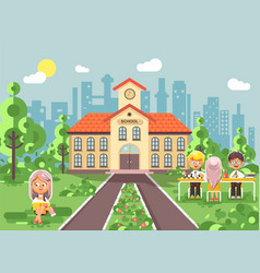 back to school character vector image vector image