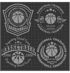 Basketball championship - emblem for t vector