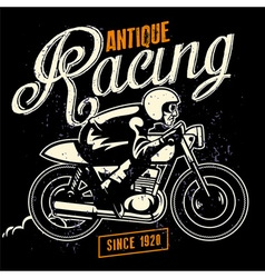 cafe racer badge vector image