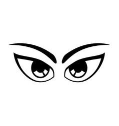 cartoon eyes expression vector image