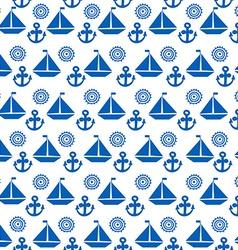 Cartoon seamless pattern with sail boats anchors vector image vector image