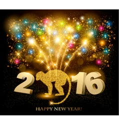 Celebration background with a beautiful gold 2016 vector