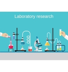 Chemists scientists equipment vector