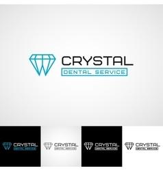Creative dental logo template teethcare icon set vector