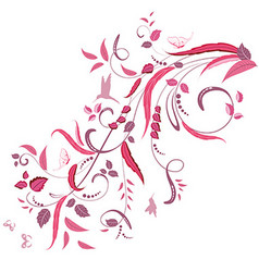 elegant floral ornament for your design vector image