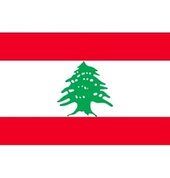 Flag of Lebanon in correct size and colors vector image