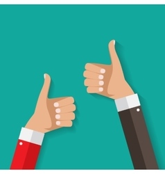 Flat Design Thumbs Up Background vector image