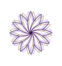 Flower sign colorful icon shaked with vector