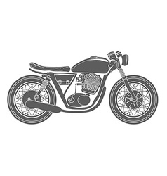 Hand drawn vintage motorcycle isolated vector