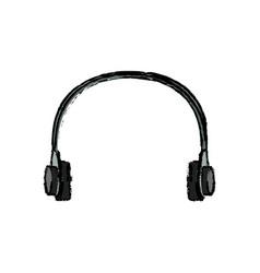 Headphone sound music volume technology vector