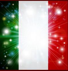 italian flag background vector image vector image