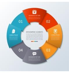 Modern arrow infographics circle vector image
