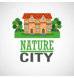 Nature city design vector image vector image