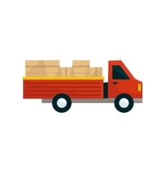 Open deck cargo truck vector