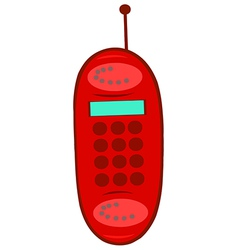 Red cell phone vector