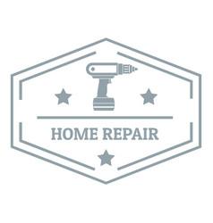 Repair home logo simple gray style vector