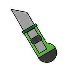 Scapel utensil icon vector