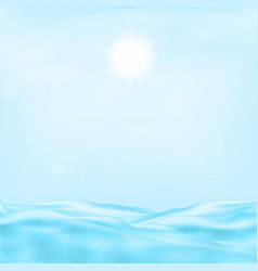 Sea and the sun vector