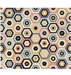 seamless hexagon geometric pattern vector image vector image