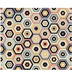Seamless hexagon geometric pattern vector