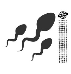 Sperm icon with work bonus vector