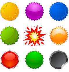 starburst seals vector image vector image