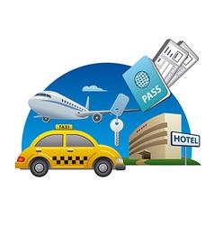 Travel service vector