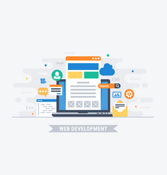 web development vector image