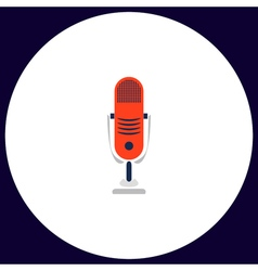 Music microphone computer symbol vector