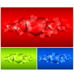 Hearts color background 10 v vector