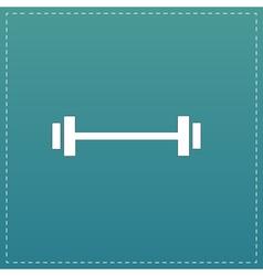 Barbell - Single Icon vector image
